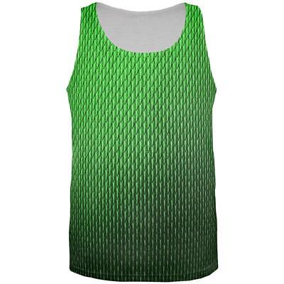 Halloween Green Earth Dragon Scales Costume All Over Mens Tank Top - Mens Dragon Costume