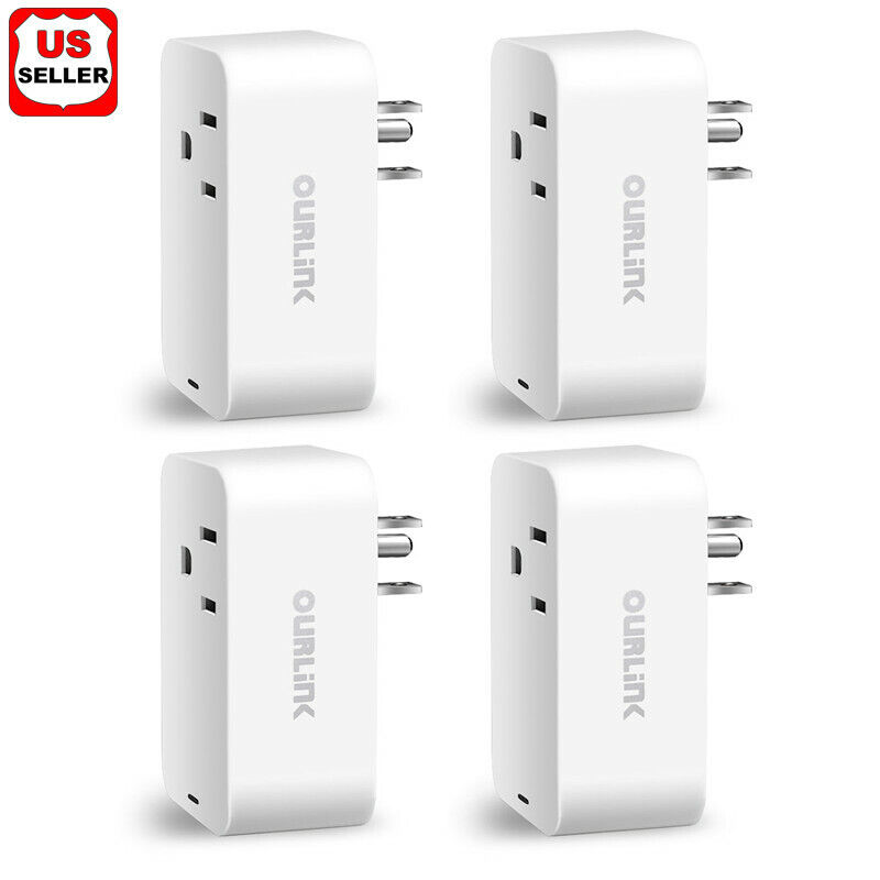 4 Pack Mini Wifi Smart Plug Power Socket Timer Outlet Remote Control US Seller Consumer Electronics