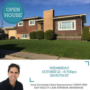 OPEN HOUSE! Wednesday Oct 12th, 163 Ruth St -- 6-7pm