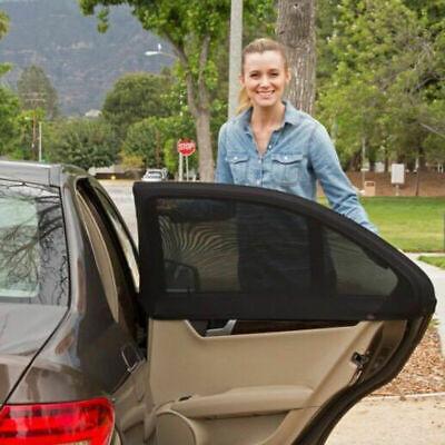 2Pcs Car Rear Window Sun UV Sunshine Blocker Cover Seat Shade Mesh Blind UK