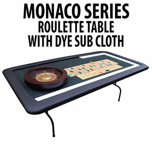 ROULETTE TABLE WITH FOLDING LEGS DYE SUBLIMATED CASINO FELT London Ontario image 1