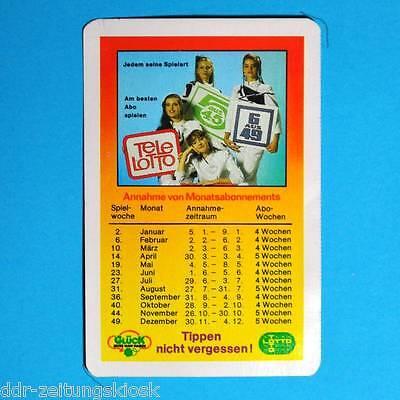 Taschenkalender 1987 | Tippen nicht vergessen Tele-Lotto 6 aus 49 5 aus 45