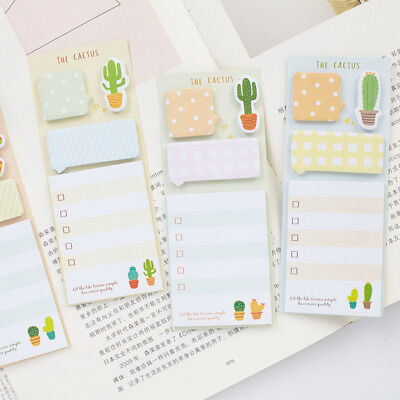 Used, 2pcs/lot Cactus Memo Pad Kawaii Note Pad Planner Diary Label Stickers Stationery for sale  Shipping to Canada