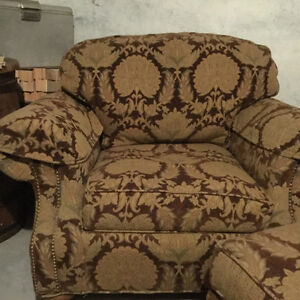 High End large chair and ottoman