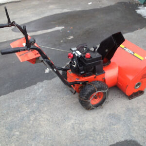 Snowblower with chains on tires throws far good condition $300