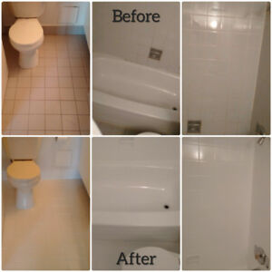 Bathtub & Tile Reglazing, Caulking Renewal, Grout Cleaning