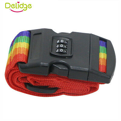 Adjustable Luggage Strap Password Lock Suitcase Strap Quick Release Travel Belt