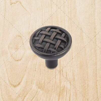 Cabinet Hardware Weave Knobs kt171 Brushed Oil Rubbed Bronze 1-5/16