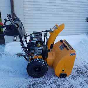 "Poulin Pro 27"" 2 stage snow blower electric start"