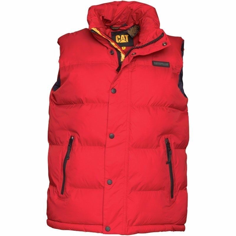"CATERPILLAR CAT Mens Padded Bodywarmer Gilet Stormblocker Waistcoat Jacket redin Edinburgh City Centre, EdinburghGumtree - CATERPILLAR CAT Mens Padded Bodywarmer Gilet Stormblocker Waistcoat Jacket red Gilet is in ""as new"" condition, worn 2 3 times. Size Large 42/44 Chest (armpit armpit 23"") CATERPILLAR STORMBLOCKER GILET Breathable,Windproof,Water Resistant,Padded..."