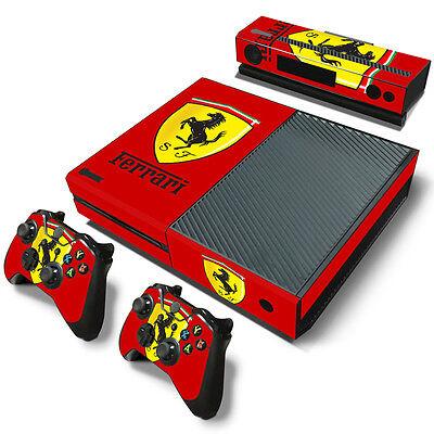 Xbox One Console Skin Decal Sticker Ferrari Car + 2 Controll