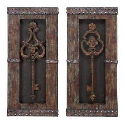 Купить Aspire - Aspire 68402 Antique Key Wood Wall Decor - Set of 2 NEW