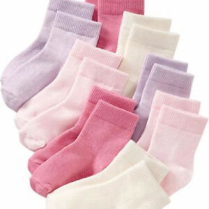 Brand new Old Navy pack of 8 pairs baby girl socks 12-24 months