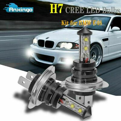 2PCS H7 CREE LED Fog Light Bulbs 6000K 1800LM DRL for BMW E46 M3 325i 330i 328i
