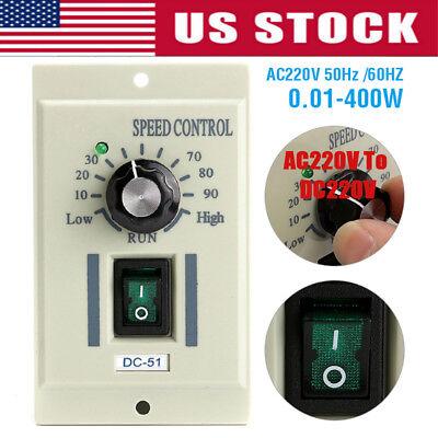 400w Ac 220v To Dc 220v Motor Stepless Rotary Knob Voltage Speed Controller