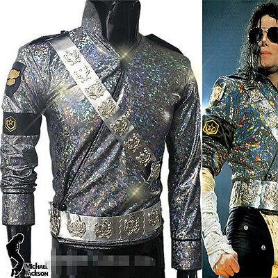 Michael Jackson Bucharest Jam Costume jacket+aiguillette+belt+armbrace+glasses
