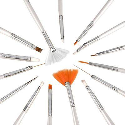15 Pcs Nail Art Acrylic UV Gel Design Brush Set Painting Pen