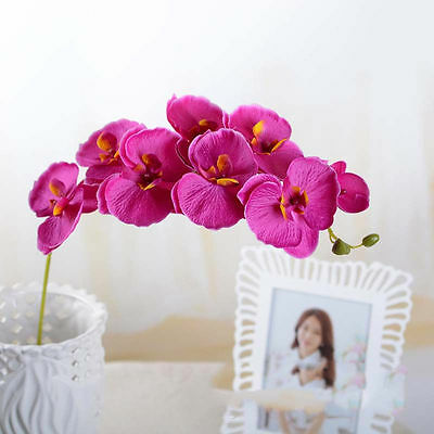 70cm Artificial Orchid Butterfly Silk Garland Fake Flowers Bouquet Wreaths Leaf](Halloween Bouquets Flowers)