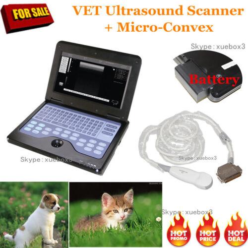 Veterinary Ultrasound Scanner Laptop Machine Animal Micro Convex Probe,us Seller