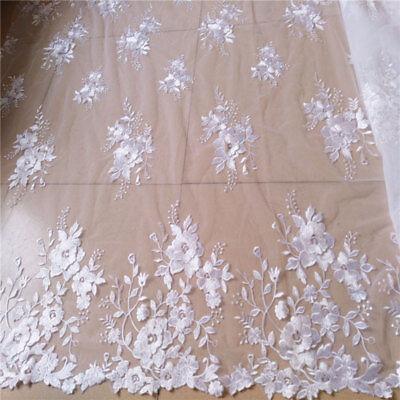 3D Blüte Bestickt Brautkleid Kostüm Stoff Hochzeit Tüll - Baumwolle Bestickt Kostüme