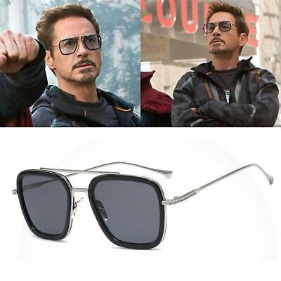 UK Marvel Tony Stark Men Sunglasses Flight 006 Fashion Avengers Iron Man Glasses