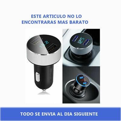 Dual USB Mechero Cargador de Coche 3.1A LCD Movil Teléfono MP3 GPS...