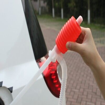 Transfer Hand Pump Sucker Plastic Car Siphon Hose Liquid Oil Water #EX1