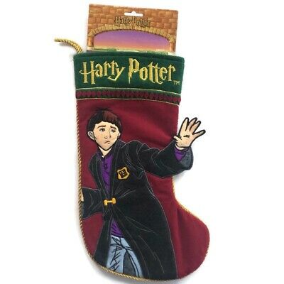 "Harry Potter Ron Weasley 3D Christmas Stocking Quilted Felt Enesco 15"" 2001 New"