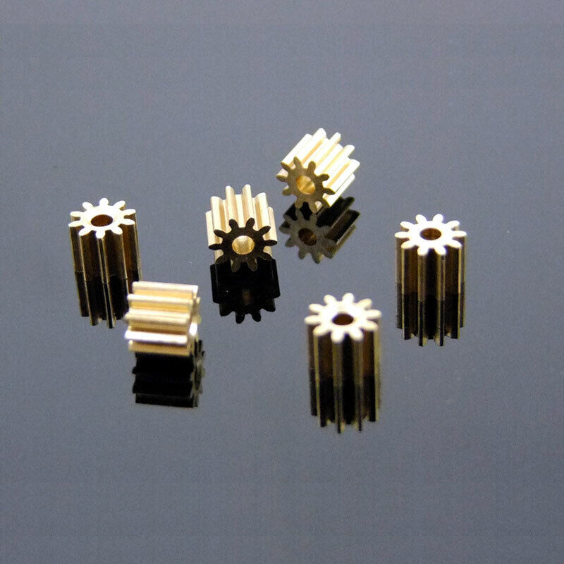 10pcs Metal Gear spindle Copper gear 10 teeth 2mm id 0.5 Modulus DIY motor