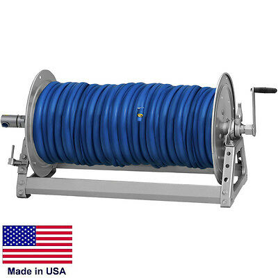 Pressure Washer Sprayer Manual Hose Reel - 600 Ft 38 Or 475 Ft 12 Id Hose