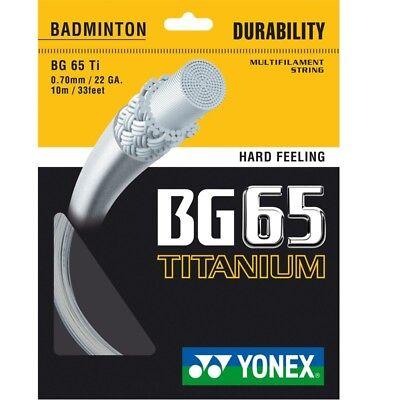 Yonex BG 65 Titanium Badminton-Saite 10m