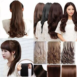 24-WRAP-AROUND-PONYTAIL-Hair-Extension-Sexy-Long-Piece-Clip-In-Synthetic-human