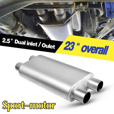 (3 Chamber Oval Muffler Exhaust Race 2.5