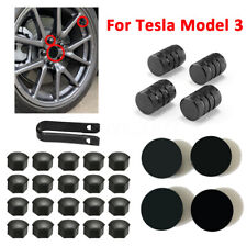 For Tesla Model 3 Wheel Center cap / lug nut covers kit ...
