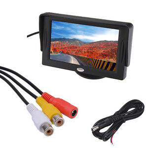 4.3 Inch LCD TFT Rearview Monitor screen for Car Backup Camera 4:3/16:9