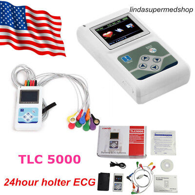 Tlc5000 Portable Dynamic Holter 12 Channel Ecg Ekg Machine Holter Newest Contec