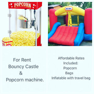 Bouncy Castle and Popcorn Rental Party Peterborough Peterborough Area image 1