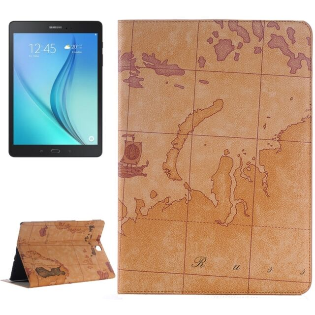 Leather Look Case for Samsung Galaxy Tab A 9.7 T550 T555 Pouch Case Braun