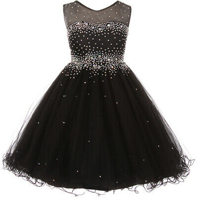 Elegant Sparkling Sleeveless Knee Length Flower Girl Black Formal - Elegant Flower Girl Dresses