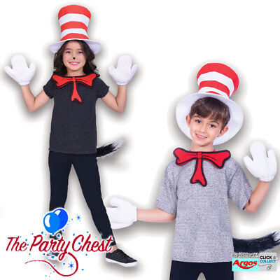 CHILD CAT IN THE HAT COSTUME KIT Kids Book Week Dr Suess Costume Kit 904193