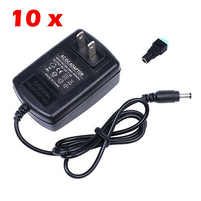 Wholesale Us 2pin Dc 12v 2a Power Supply Charger Adapter Plug Led Strip Light