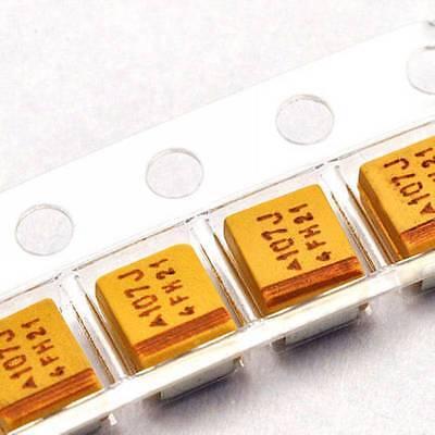 10pcs 6.3v 100uf B Case 107j 10 Smd Tantalum Capacitors 3.5mm2.8mm