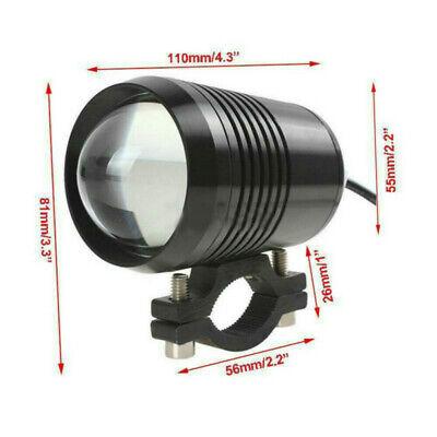 2X CREE Motorcycle U2 30W LED Driving Headlight Fog Lamp Spot Light Switch 6000K