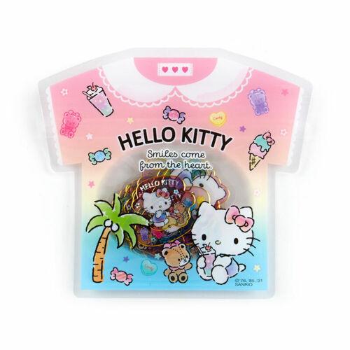 Hello Kitty Summer Sticker T-shirt Sanrio Kawaii 2021 NEW
