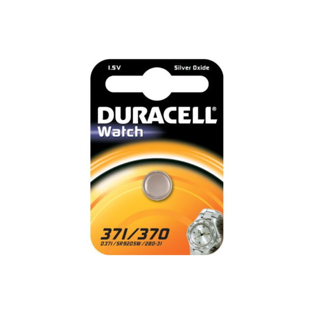 Duracell 371/370 Silver Oxide 1.5V Watch Battery - Carded 1