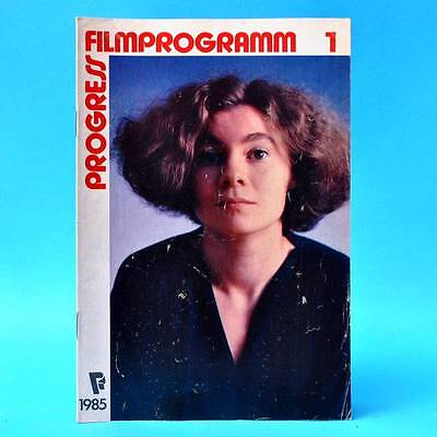 Progress-Filmprogramm 1/1985 DDR Wittstock Richard Dreyfuss Jaecki Schwarz D