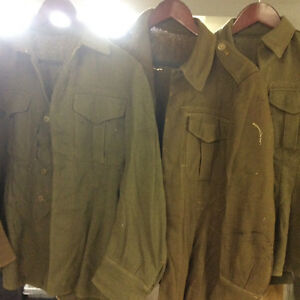 WW2 Canadian jackets x 5 and 1 pants
