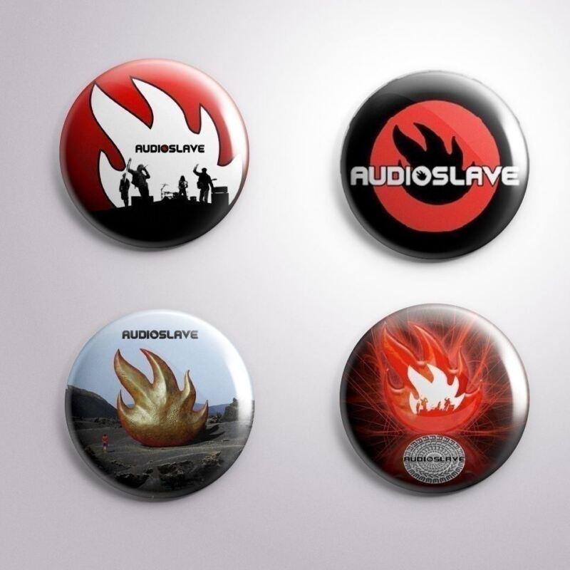 4 AUDIOSLAVE - Pinbacks Badge Button 25mm 1