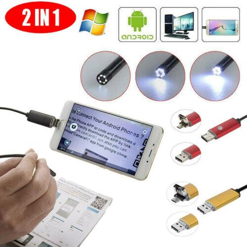 6 LED USB Endoskop Endoscope Inspektionskamera Wasserdicht für Android PC