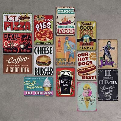 Coffee Wine Food Style Tin Sign Bar Cafe Store Home Wall Decor Metal Poster